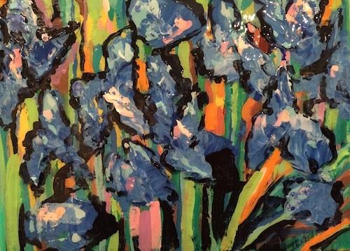 Irises in the Garden