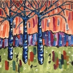 Water Colour Trees